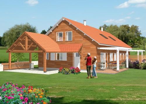 Maison bois neuve BBC + terrain 400m²