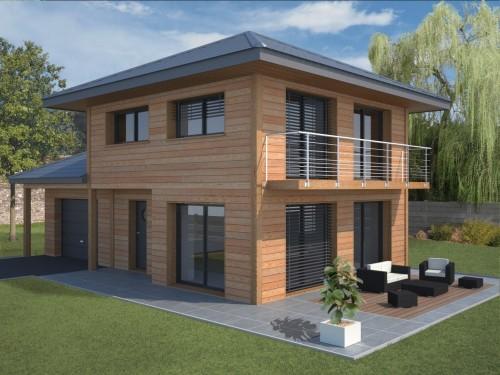 Les plus belles maisons ossature bois images - Les plus belles maisons en bois ...