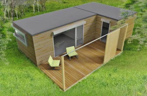 Mat riaux bois et maisons ossature bois for Maison parpaing bois