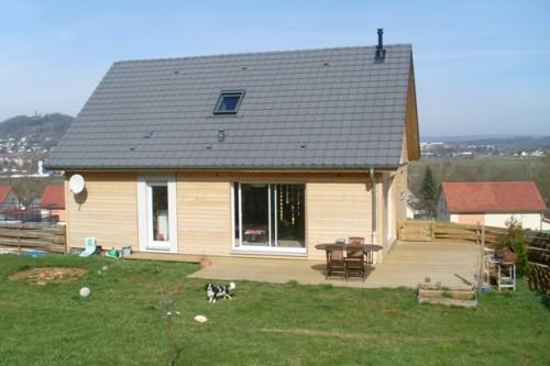 Maison neuve ossature et fa ade bois annonce maison for Annonce maison neuve