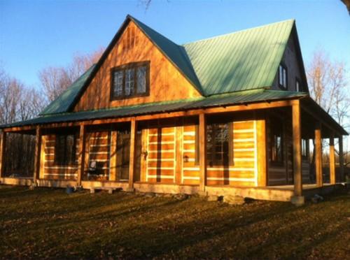 Chaleureuse maison en bois